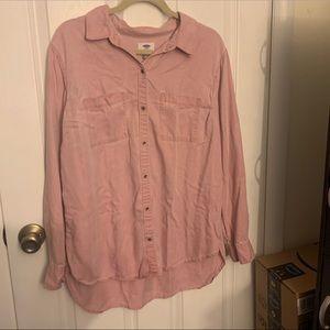 Old Navy Light Pink Button Up Shirt